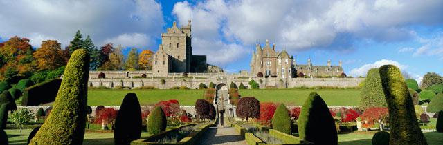 Drummond-Castle-Gardens