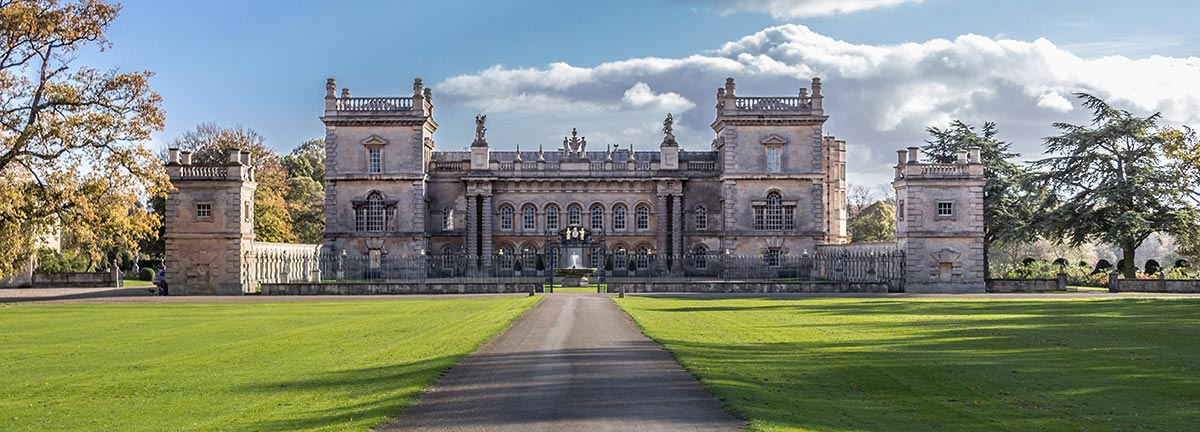 Grimsthorpe Castle Frontage from the driveway