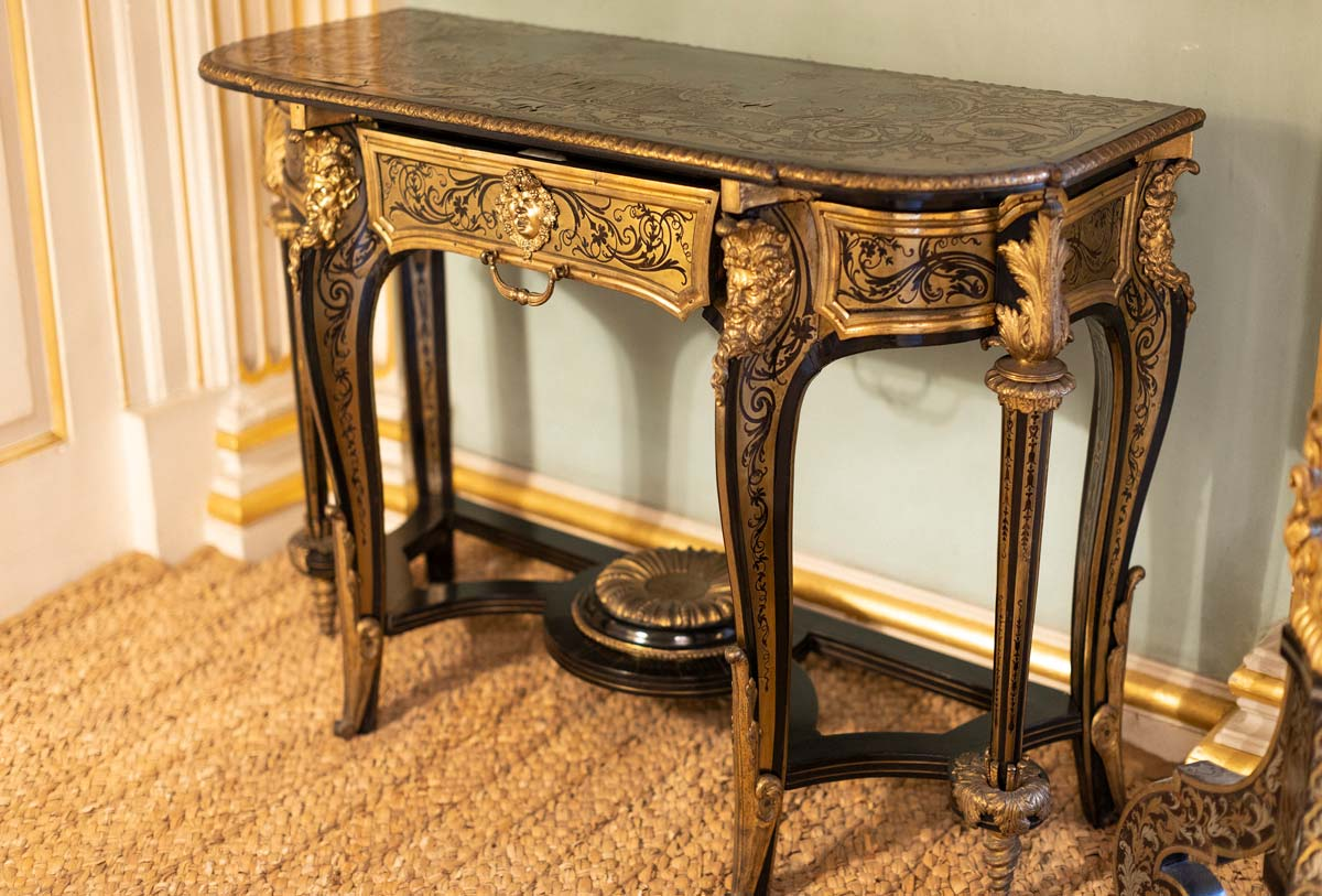 Louis XIV ormolu mounted Boulle side tables