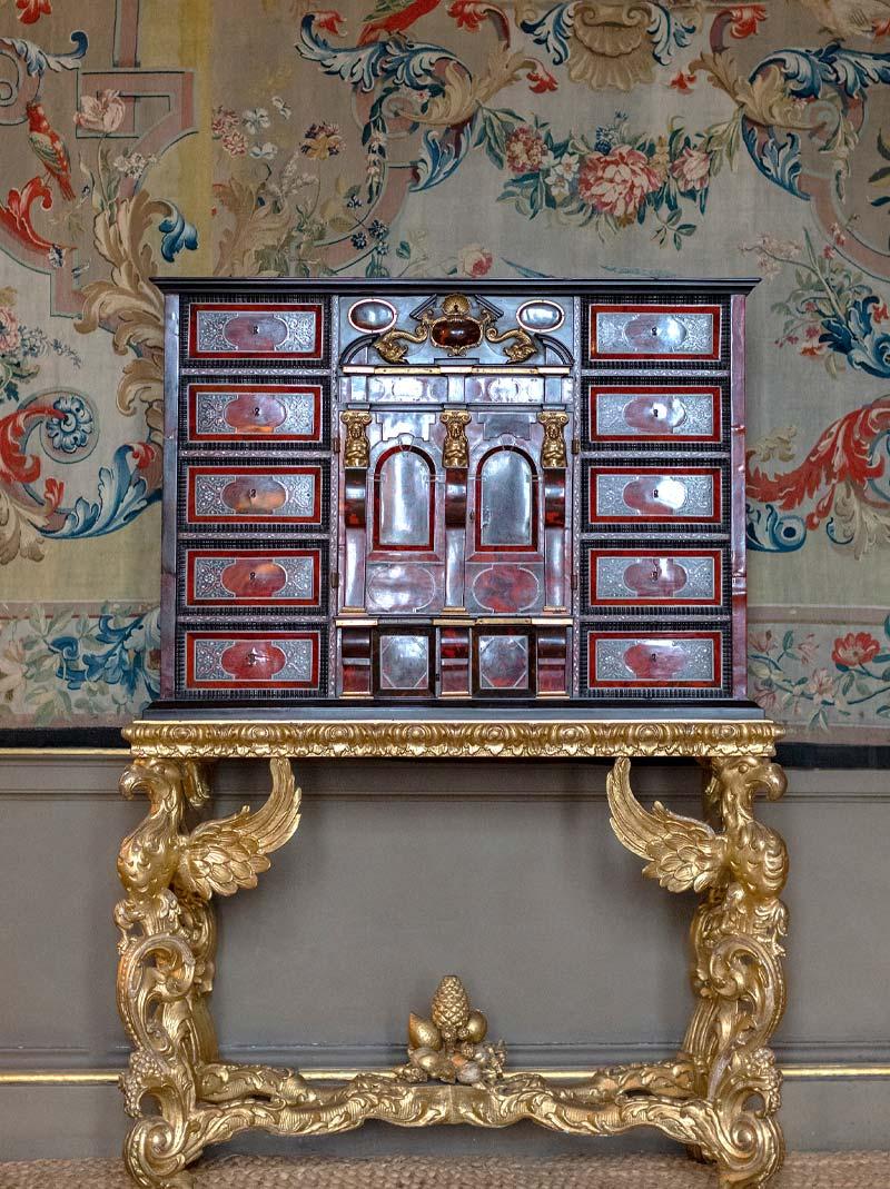 17th century Antwerp gilt-bronze-mounted ebony and tortoiseshell cabinet