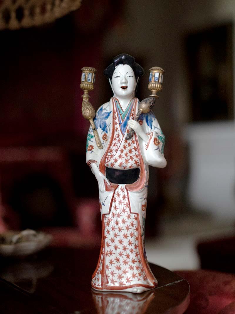A Japanese Kakiemon bijin (or beautiful lady) of the Edo Period