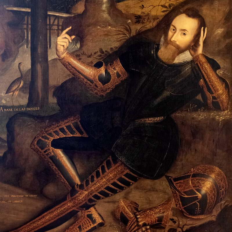 Detail of Peregrine Bertie, 13th Baron Willoughby de Eresby (1555-1601)