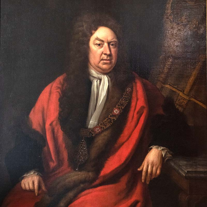 Detail of Sir Gilbert Heathcote,1st Baronet (1651-1682), by Michael Dahl